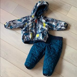 Reversible Puffball Jacket and Pants set